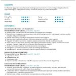 Administration Assistant CV Template