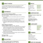Assistant Human Resources CV Template