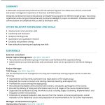 Learning and Development Manager CV Template