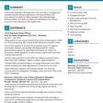 Operation Manager CV Template