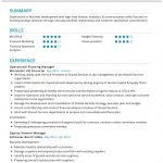 Operational Planning Manager CV Template