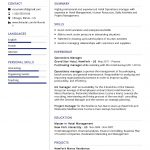Operations Manager CV Template
