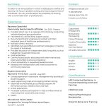 Recovery Specialist CV Template