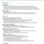 Sr Project Manager CV Template
