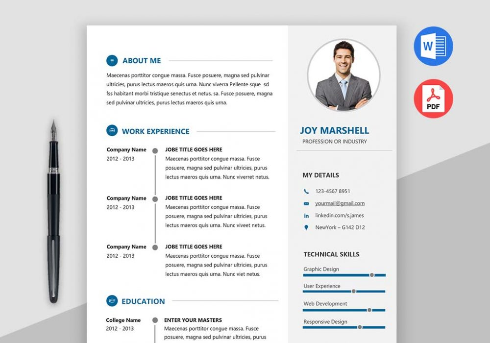 modern resume template best modern resume template 2018 maxresumes 23680 | admire1 1000x700