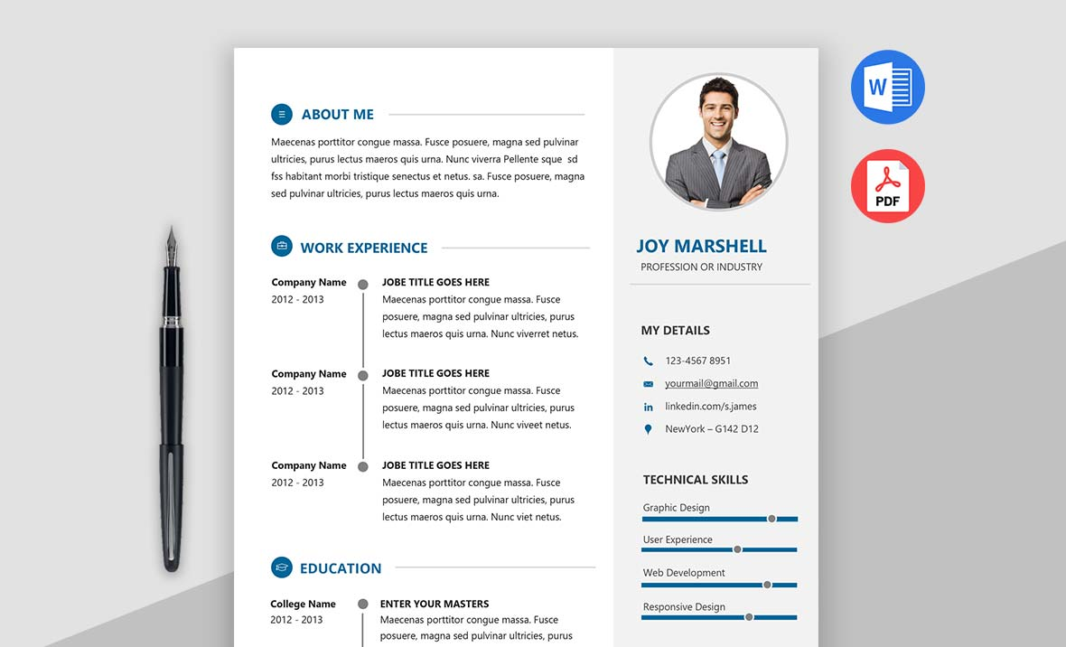 Admire - Best Modern Resume Template