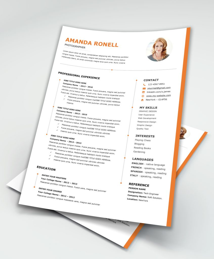 Resume Template MS Word [Downloadable] - MaxResumes