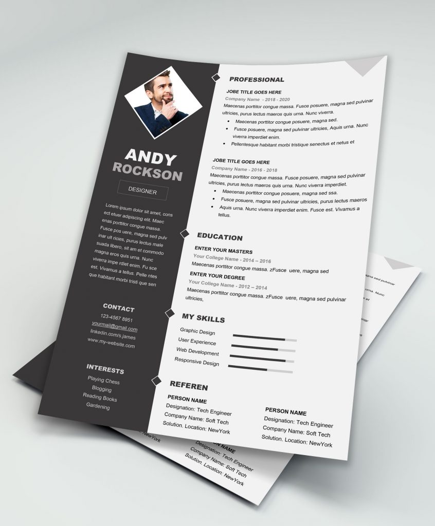 Professional Clean And Simple Fashion Resume Template Download