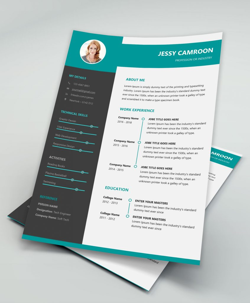 modern clean resume template free download
