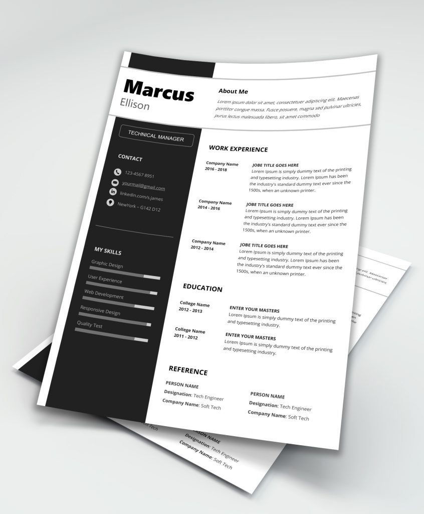 Modern Resume Template Word