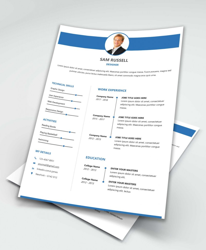 Impact Free Word Resume Template