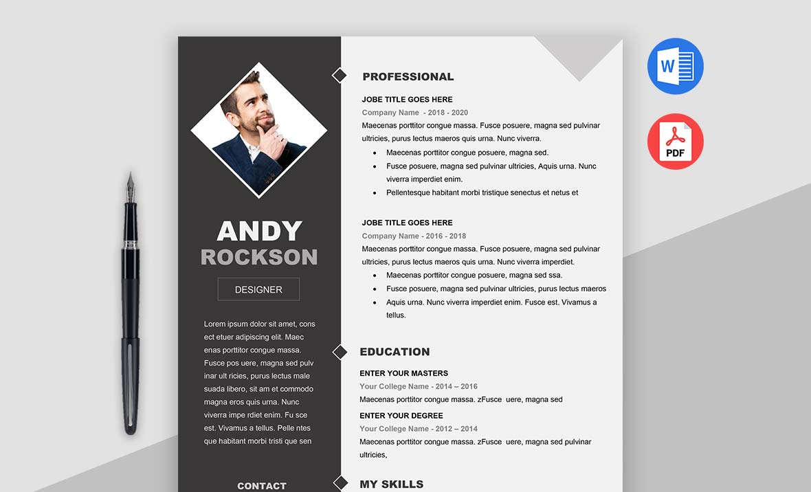 Fashion Resume Template