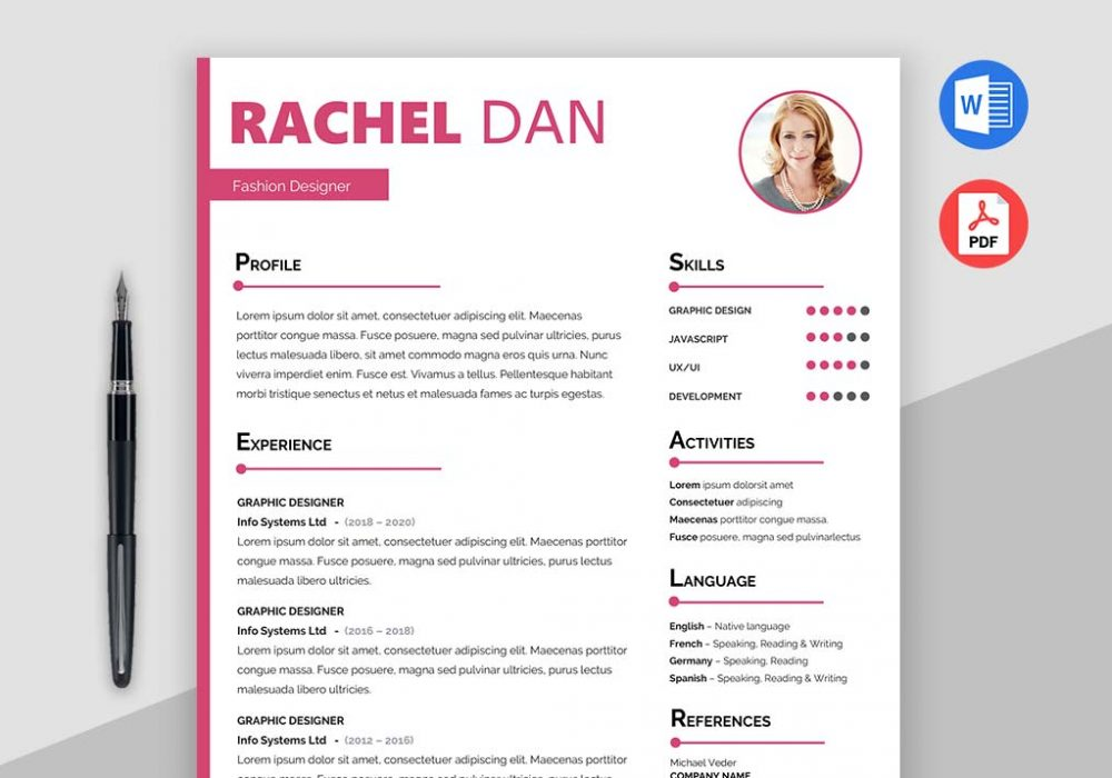 enrich free creative resume template doc