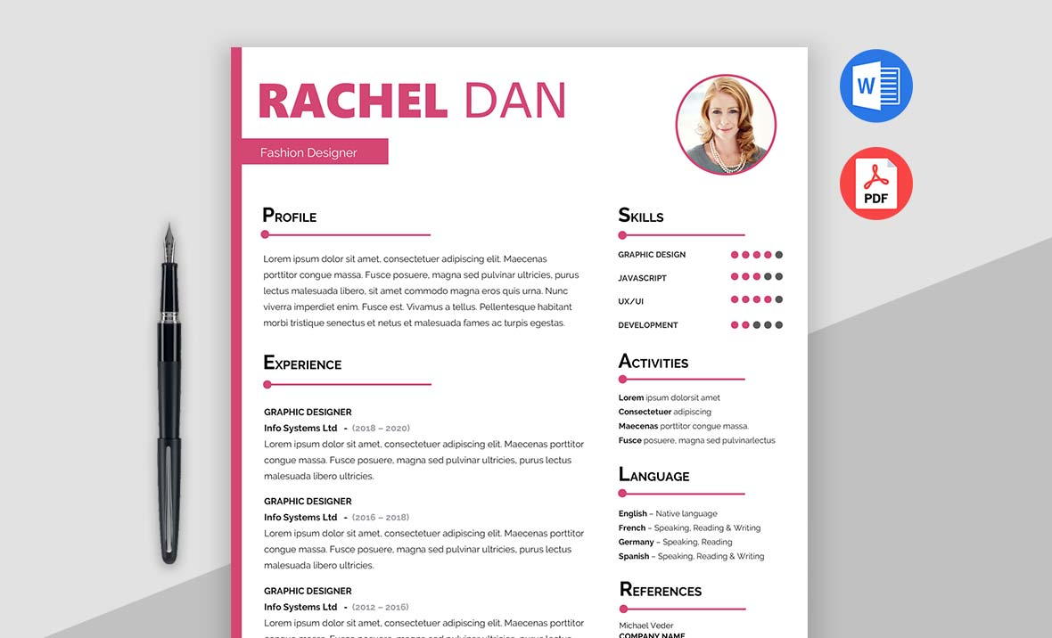 Enrich - Free Creative Resume Template Doc
