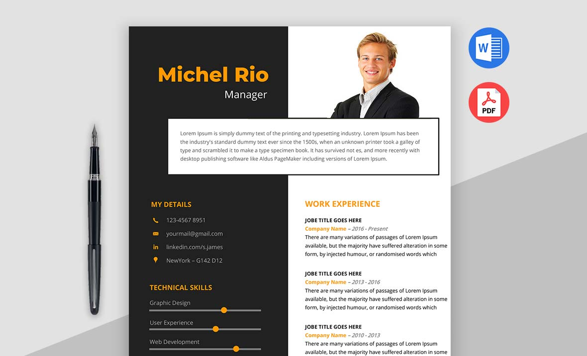 Perfect - MS Word Resume Template