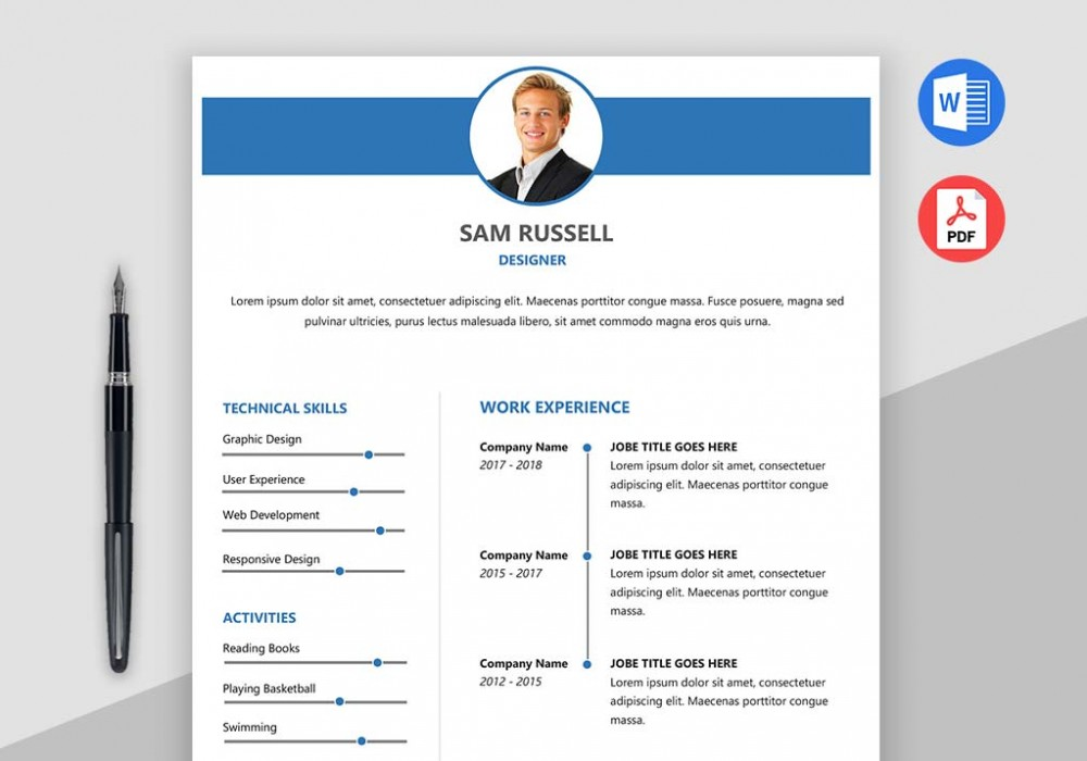 Impact Free Word Resume Template Maxresumes