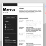 Marc - Modern Resume Template Word