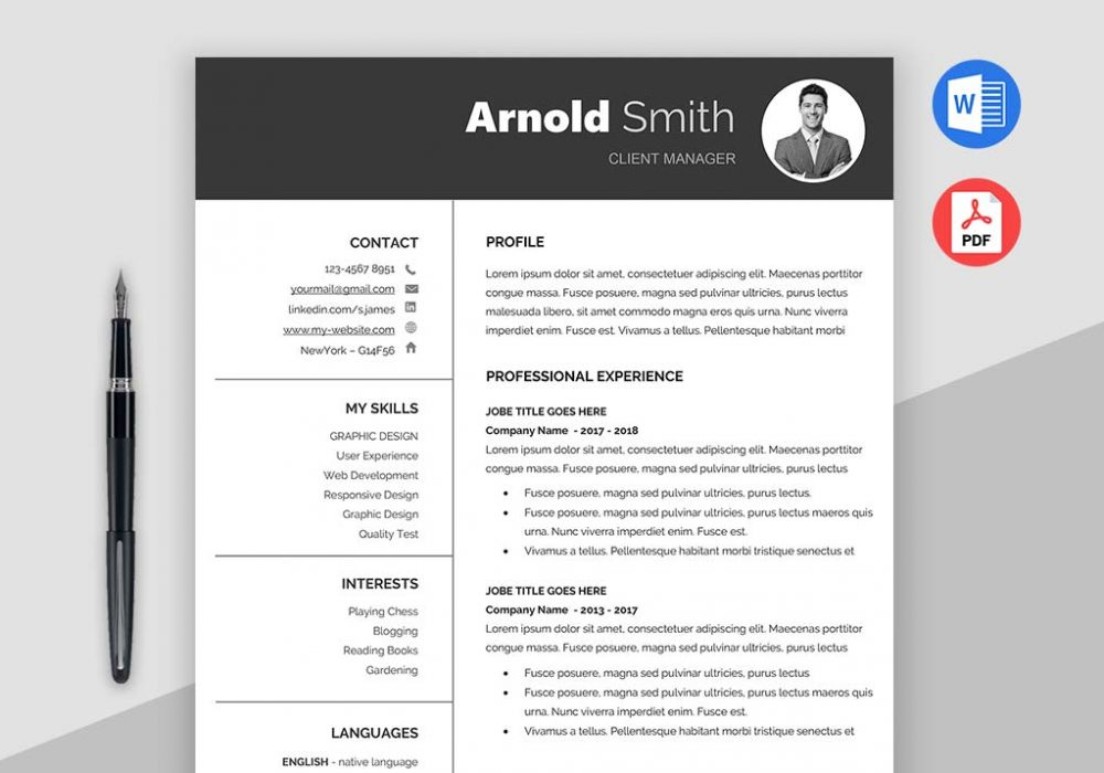 Forever Free Resume Templates Downloadable- MaxResumes
