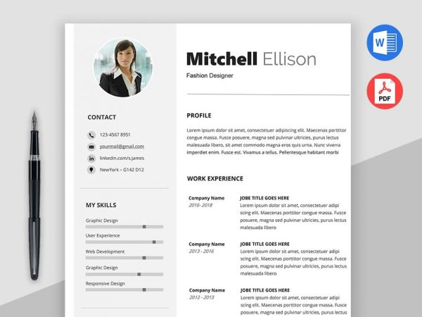 Free Downloadable Classic Resume Templates | Max Resume