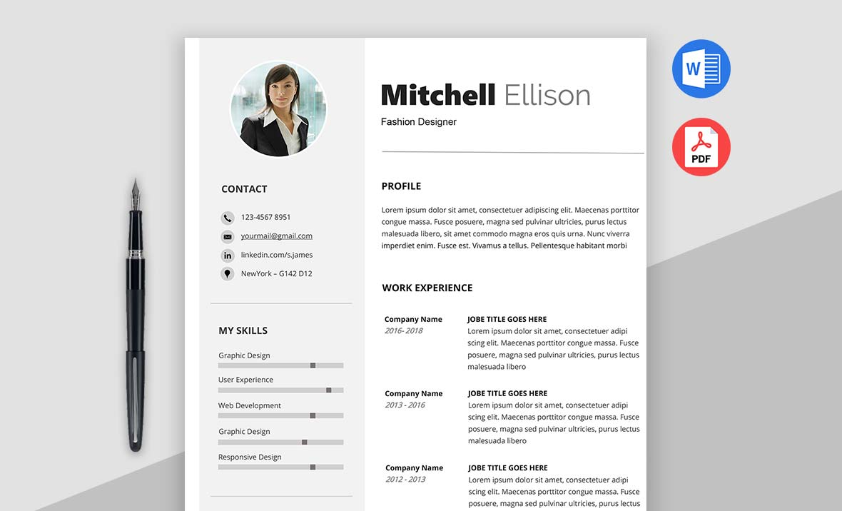 Target - Basic Resume Template Word