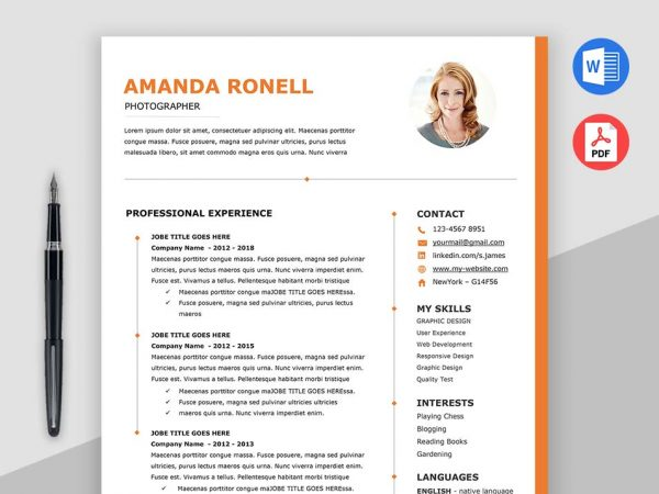 Resume Template MS Word