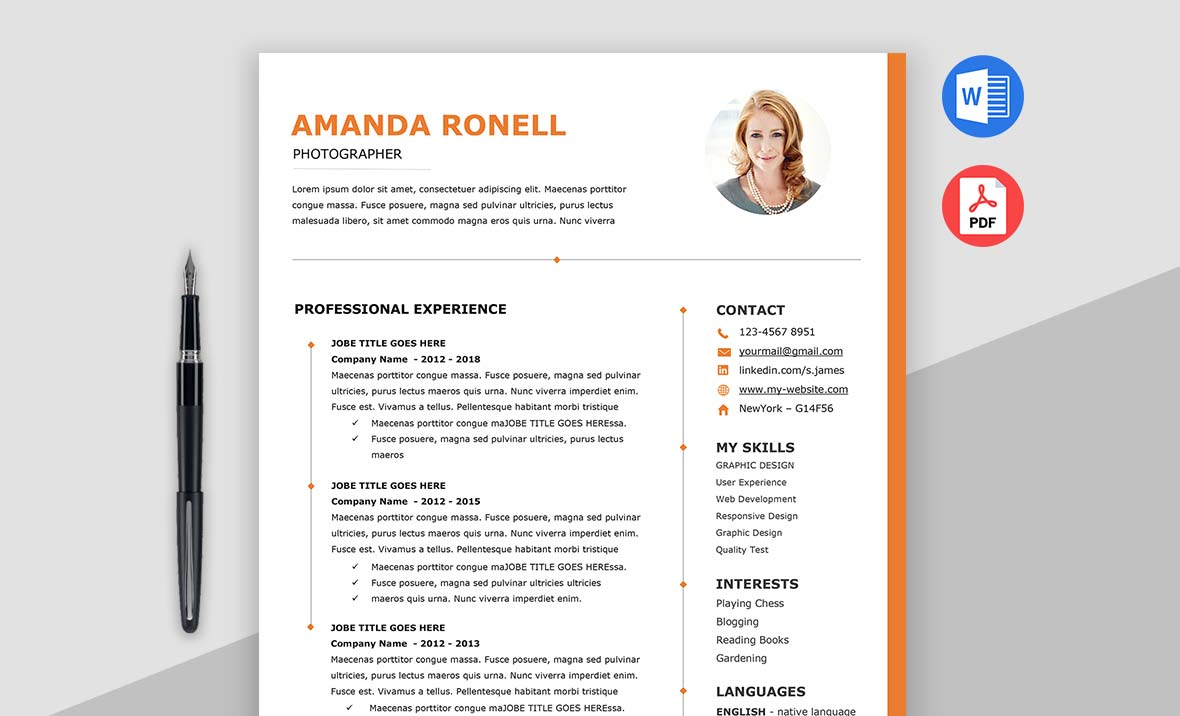 Wow - Elegant Resume Template MS Word