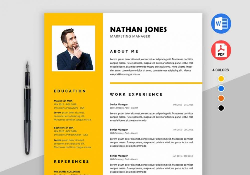 Assure Free Resume Template For MS Word