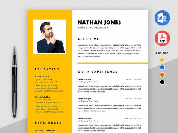 Microsoft Word Resume Template 2018 from maxresumes.com