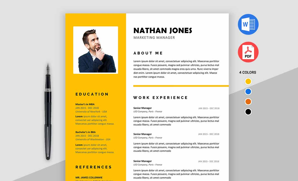 Assure Job Winning resume template for MS Word