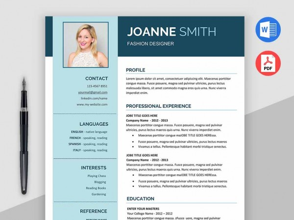 Impress Modern Resume Template MS Word