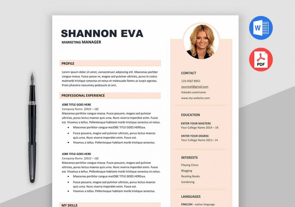 Creative Resume Template Microsoft Word