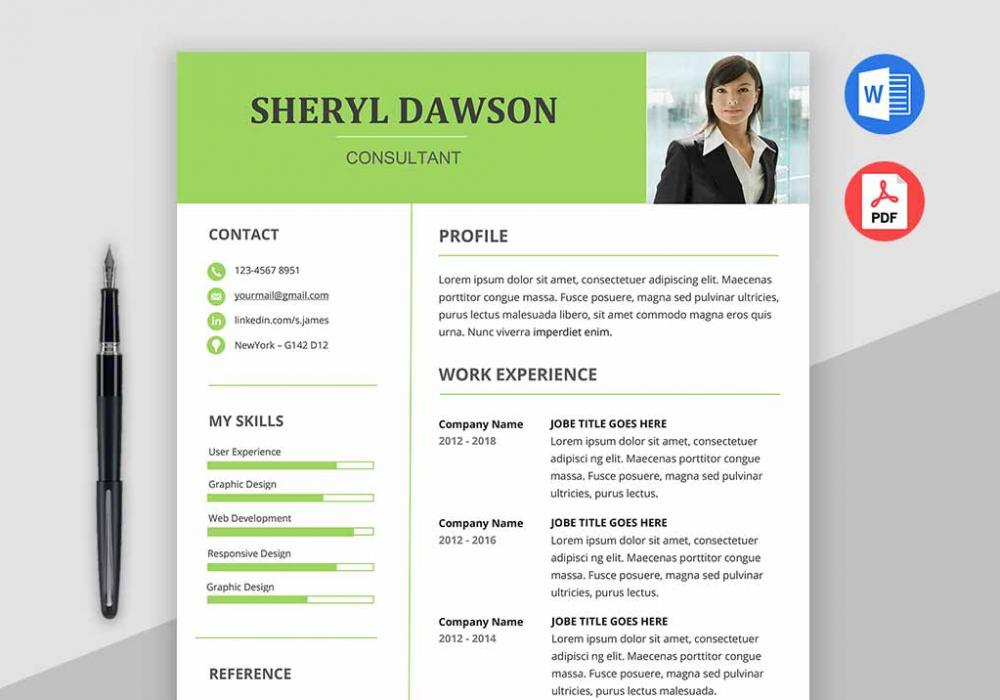 Star Free Modern Resume Template Word - MaxResumes