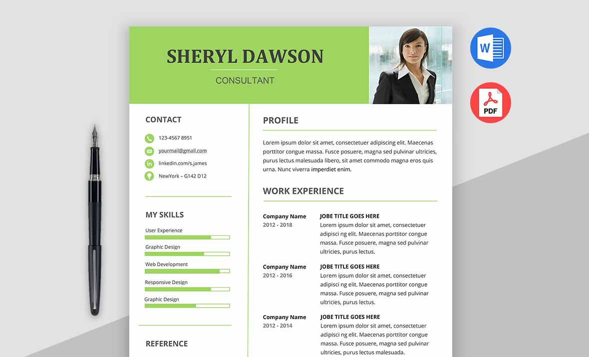 Star Premium Modern Resume Template Word