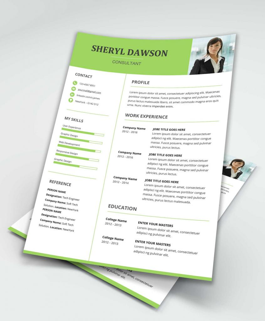 Star Free Modern Resume Template Word