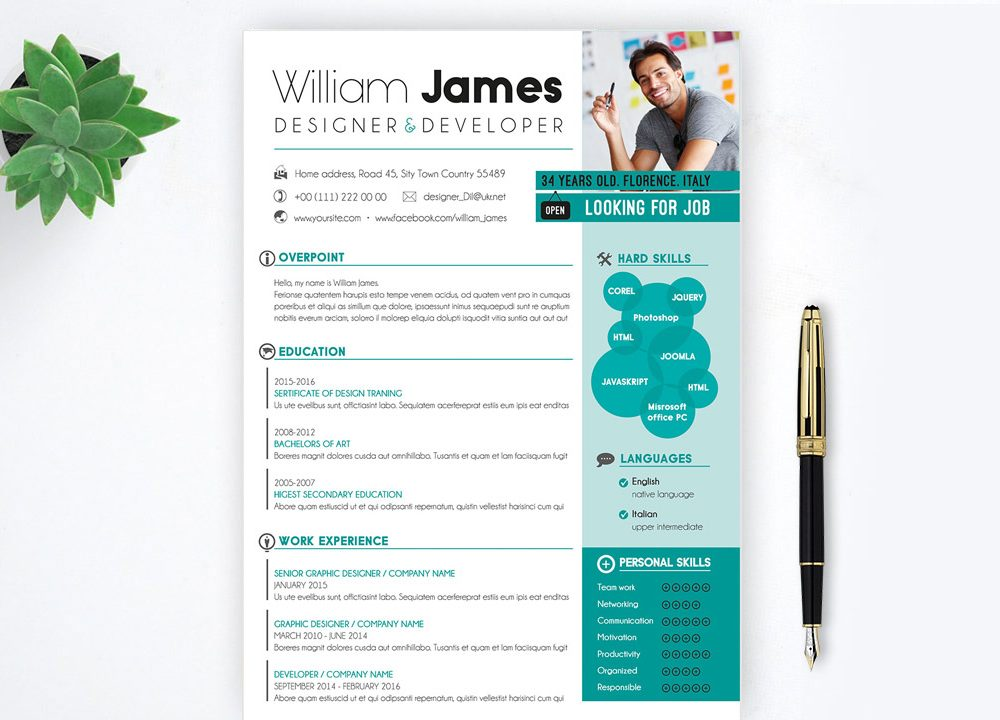 Best Free Resume Template & Cover Letter