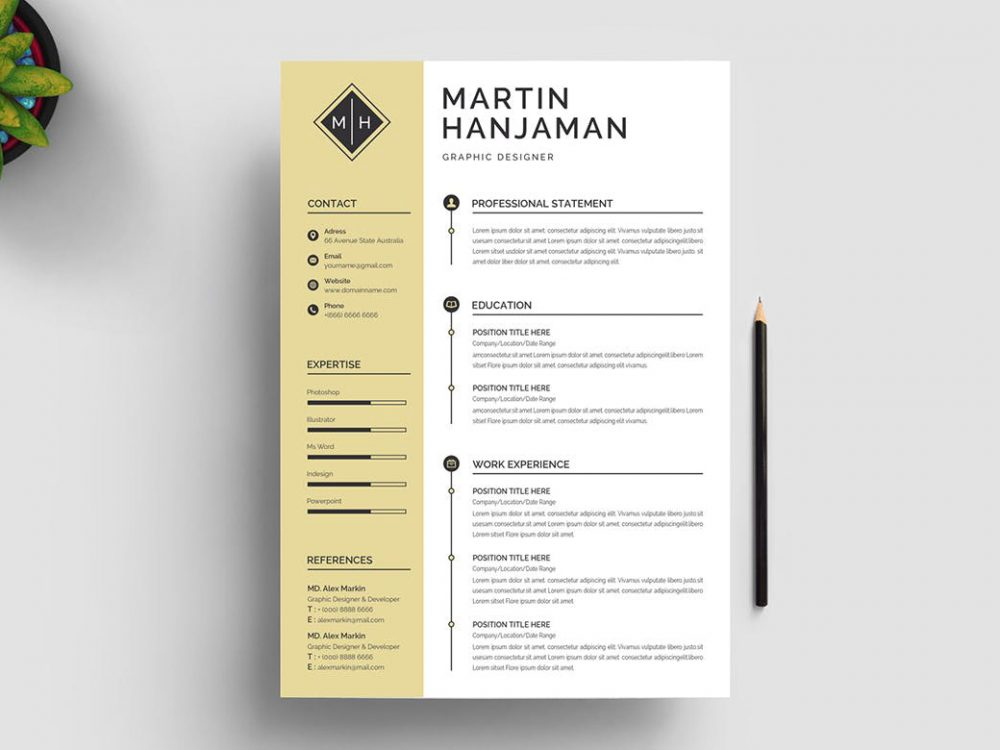 Classic Word Resume Template free Download
