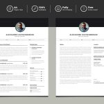 Clean and Minimal Free Resume Template Download