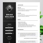 Free Resume Template for Photoshop Word & Illustrator