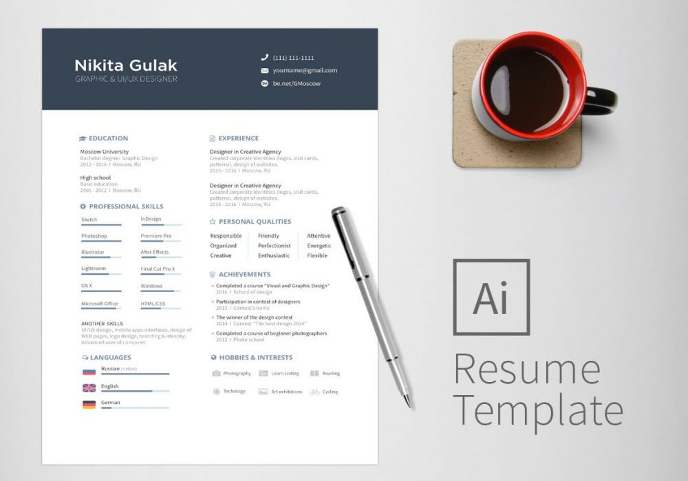 Two Page Resume Template