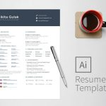 Simple Two Page Resume Template AI Format
