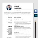 Professional Resume Template Word & PSD