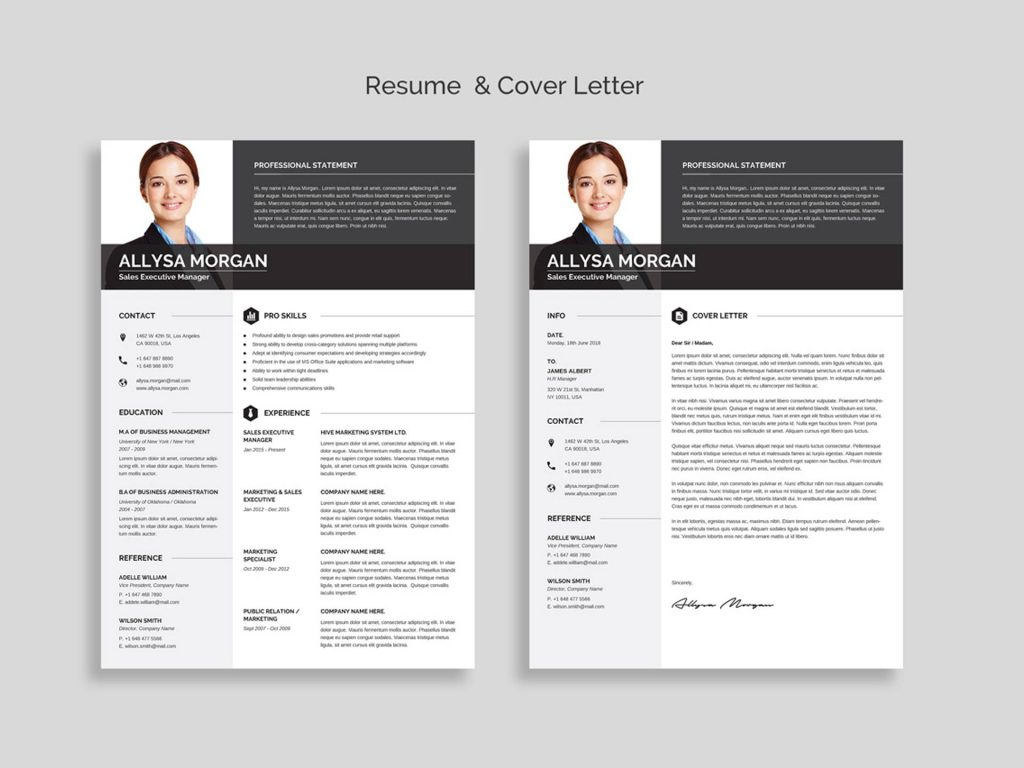 free professional resume template word  2020
