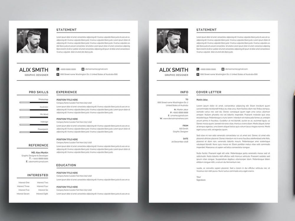 Free Simple Resume Template Word Psd 2020 Maxresumes