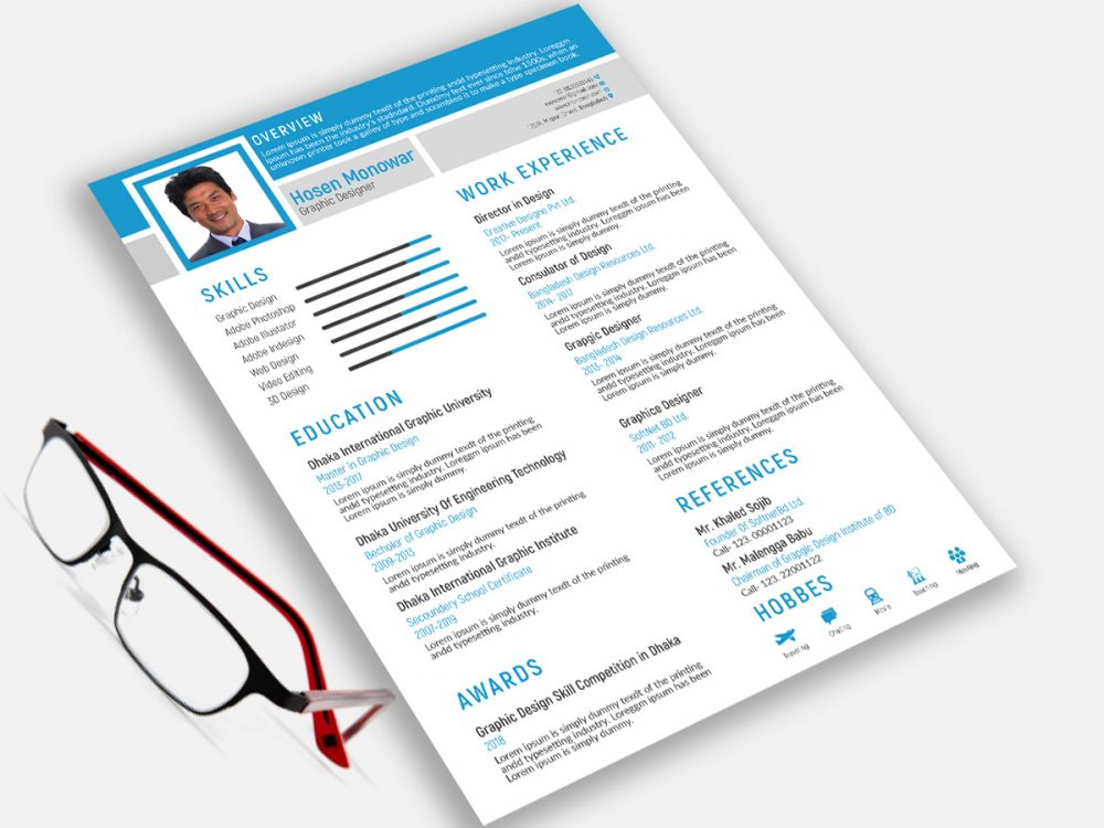 Free Modern Resume Template with Cover Letter 2019