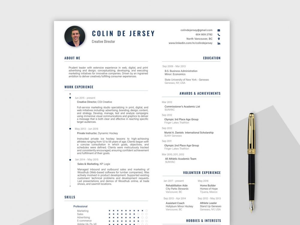 Best Professional Resume Template AI Format