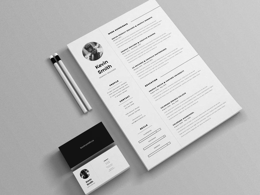 Free Illustrator Simple & Clean Resume Template