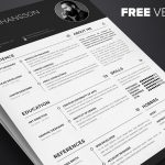 Free Professional Clean Resume Template Multi Format