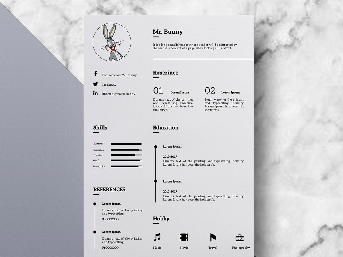 Free Clean Simple Resume Template Download