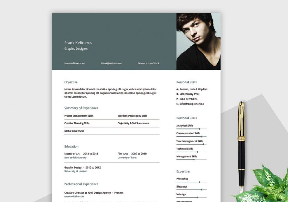 Illustrator Free Resume Template