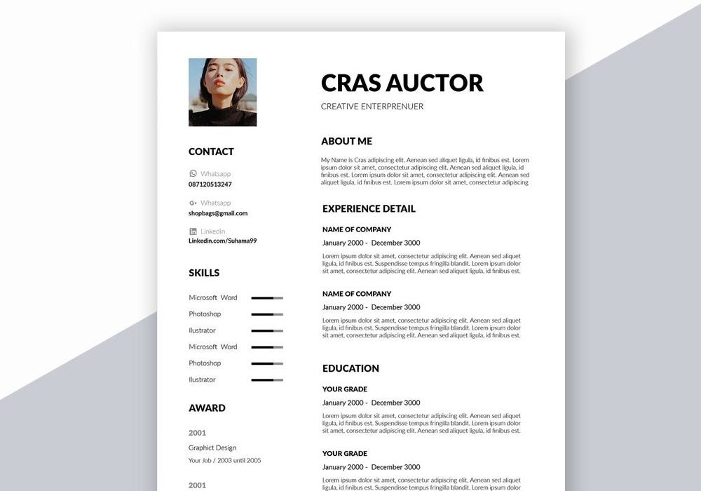 Free Creative Resume Template In Word Format 2020 Maxresumes